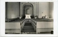 Interior of Congregational Church, Rumford Point, 1909