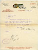 Continental Paper Bag Company freight notice, Rumford Falls, 1912