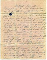 Letter to Sarah Tarbox from home, 1841
