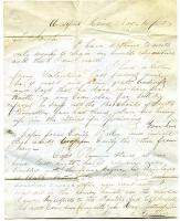 Letter to Sarah Tarbox from brother Franklin, 1850