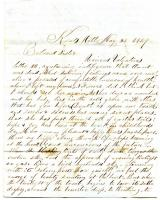 Letter to Sarah Tarbox from brother Franklin, 1849