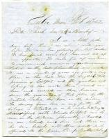 Letter to Sarah Tarbox Greenleaf from brother Valentine, Lubec, 1852