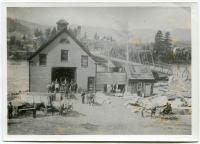 J. W. Buzzell's granite yard, Ridlonville, ca. 1900