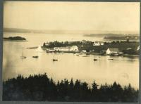 Aerial view of Davis Point, Friendship, ca.1920