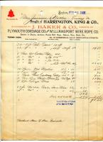 Invoice for fishermen's gear, 1902
