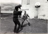 William S. Cohen playing basketball, ca. 1972