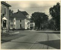 Intersection of Main Street and Weld Street, Dixfield, ca. 1930