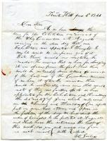 Letter to Sarah Tarbox from brother Valentine, 1844