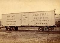 Maine Central Railroad boxcar,  ca. 1890