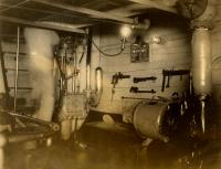 Engine room of the Chas. W. Parker, Jr. ca. 1913