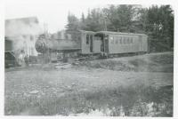 Narrow Gauge Engine at Water Street Station, Monson, ca. 1900