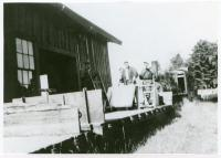 Loading Flat Beds on the Monson Train, ca. 1935