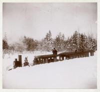 Monson Railroad Snow Cut, 1898