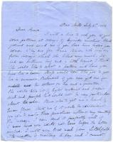 Martha Osgood letter about fabric, dresses, Bar Mills, 1862