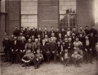 Portland Company boiler shop employees, August 30, 1887