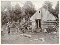 Rough hewn hunting camp, Monson 1920
