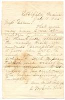 Isaac Starbird letter to Rebecca Usher, Litchfield, 1865