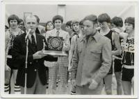Rumford High School basketball trophy, 1976