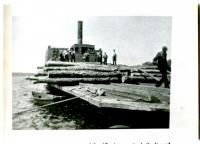 "Side-wheeler Scow ""Owl"", Moosehead Lake, ca. 1900"