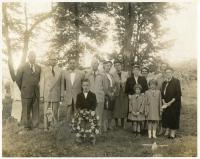 Memorial Service for Revolutionary War Veteran, Monson, 1954