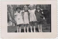 Girls in Easter outfits, Dixfield,  ca. 1956