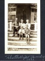 Phillips Family on Porch of Phillips Cottage, Northeast Harbor, Maine 1933