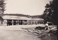 Asticou Garage Under Construction 1939