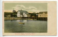 Steamboat wharf from the water, Friendship, ca. 1905