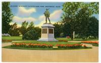 Soldiers and Sailors Monument at Riverbank Park, Westbrook, ca. 1935