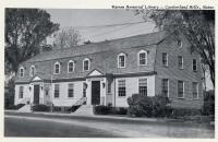 Warren Memorial Library, Westbrook, ca. 1950