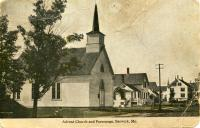 Advent Church and Parsonage, Berwick, ca. 1900
