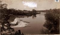 Skowhegan Falls from Elm Street, ca. 1880