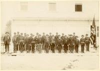 GAR Members in front of their hall, Monson, 1897