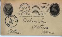 Postcard with Asticou Maine postmark, 1906