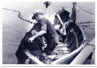 Working a fish trap