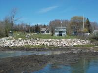 Looking toward the Russell House site, from Tea Island, 2013