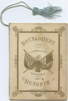 Montgomery Guards and Meagher Guards event program, Portland, 1882