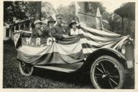 Centennial Parade Float for GAR & WRC, Monson, 1922