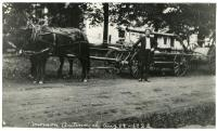 Monson's Fire Equipment on parade, Monson, 1922
