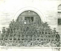 Army Recruits, Lewiston City Hall, 1917