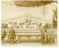 Saccarappa Grange #481 centennial celebration float, Westbrook, 1914