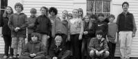 The South Bristol School fifth and sixth grades with teacher Jason Bigonia, at the S Road School.