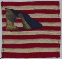 16th Maine flag fragment, ca. 1863