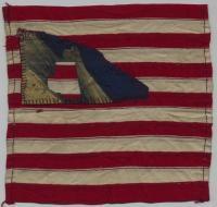 16th Maine flag fragment, ca. 1863
