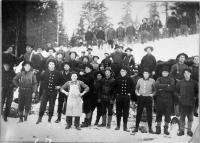 Woods Crew at Cunliff Depot on Allagash, 1903