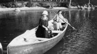 Boating on Lake Auburn, 1925