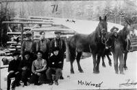 Woods Crew at Bower's Camp at Sugarloaf, 1914