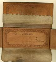 William Pitt Preble wallet, Great Cranberry Island, 1836