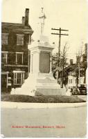 Soldier's monument, Berwick, ca. 1911