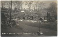 Ruins of Masonic Lodge, Ellsworth, 1933